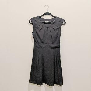 RXPRESS classic black midi dress pleated